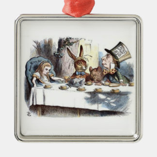 A Mad Tea Party Pastels Christmas Ornament