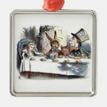 A Mad Tea Party Pastels Silver-Colored Square Decoration
