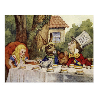 A Mad Tea Party Postcard