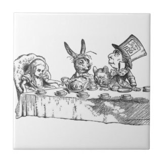 A Mad Tea Party Small Square Tile