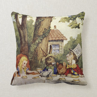 A Mad Tea Party with Alice in Wonderland Pillow