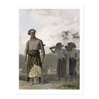 A Madurese of the Rank of Mantu, plate 7 from Vol Postcard