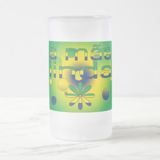 A Mãe Linda Brazil Flag Colors Pop Art Mug