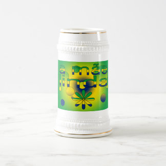 A Mãe Linda Brazil Flag Colors Pop Art Beer Steins