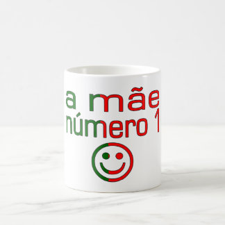 A Mãe Número 1 - Number 1 Mom in Portuguese Basic White Mug