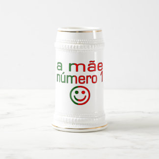 A Mãe Número 1 - Number 1 Mom in Portuguese Beer Steins