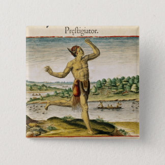A Magician from Virginia 15 Cm Square Badge