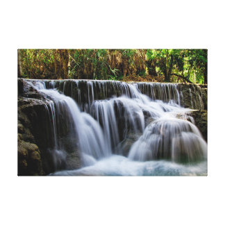 A magnificent close-up waterfall on canvas canvas print