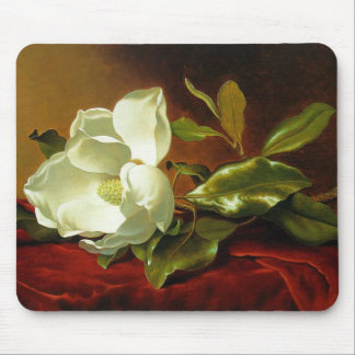 A Magnolia on Red Velvet Mouse Pad