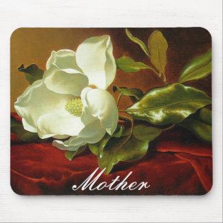 A Magnolia on Red Velvet Mousepad
