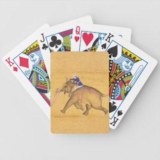 A Mahout riding an Elephant, from the Large Clive Bicycle Playing Cards
