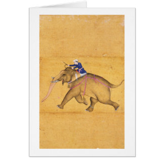 A Mahout riding an Elephant, from the Large Clive Card