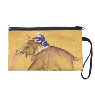 A Mahout riding an Elephant, from the Large Clive Wristlet Clutch