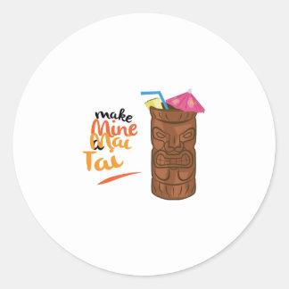 A Mai Tai Round Sticker