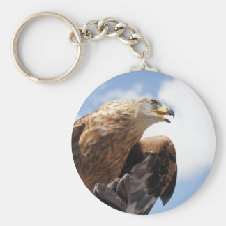 A majestic golden eagle key ring