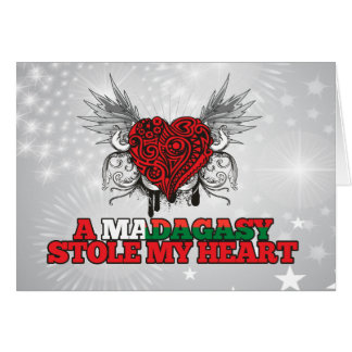 A Malagasy Stole my Heart Greeting Card