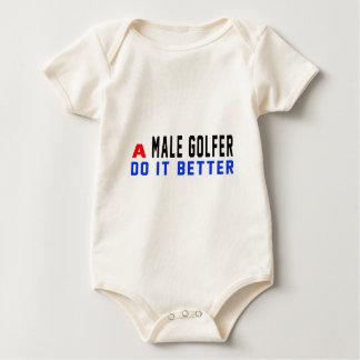 A male golfer Do It Better Baby Bodysuit