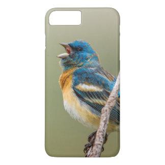 A Male Lazuli Bunting Songbird Singing iPhone 8 Plus/7 Plus Case