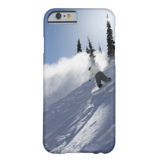 A male snowboarder ripping powder in Idaho. Barely There iPhone 6 Case