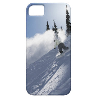 A male snowboarder ripping powder in Idaho. iPhone 5 Case