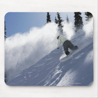 A male snowboarder ripping powder in Idaho. Mouse Mat