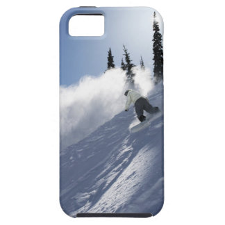 A male snowboarder ripping powder in Idaho. Tough iPhone 5 Case