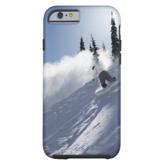 A male snowboarder ripping powder in Idaho. Tough iPhone 6 Case