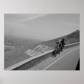 A man, a bike, Peru. Poster