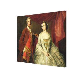 A Man and a Woman, possibly of the Missing Family, Canvas Print