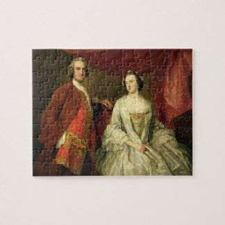 A Man and a Woman, possibly of the Missing Family, Jigsaw Puzzle
