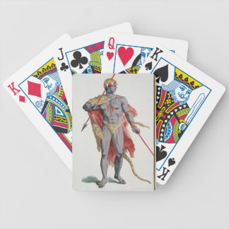 A Man from the Caribbean, 1780 (coloured engraving Bicycle Poker Cards