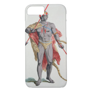 A Man from the Caribbean, 1780 (coloured engraving iPhone 8/7 Case