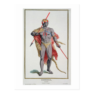A Man from the Caribbean, 1780 (coloured engraving Postcard