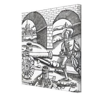 A Man loading a cannon Canvas Print