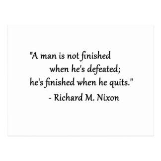 A Man Not Defeated Quote Post Card