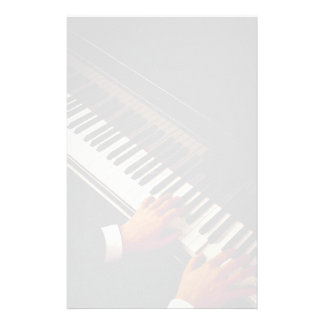 A man playing piano customized stationery