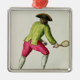 A Man Playing with a Racquet and Balls Christmas Ornament