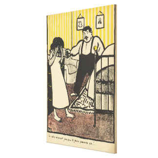 A man reproaches his pregnant mistress stretched canvas prints