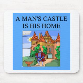 a man s home is his castle mouse mat