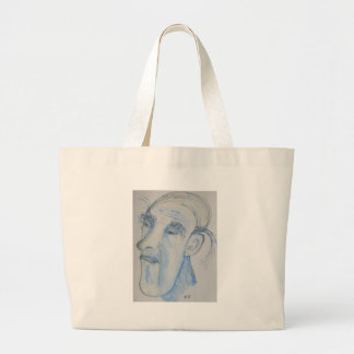 A Man With A Lot On His Mind Jumbo Tote Bag