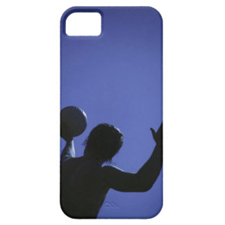 A man with a volleyball case for the iPhone 5