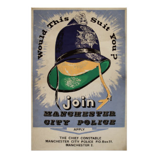 A Manchester City Police Recruitment Poster