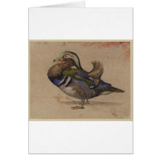 A Mandarin drake by Eugene Delacroix Greeting Card
