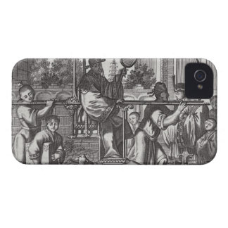 A Mandarin in a Sedan Chair, illustration from a d iPhone 4 Case-Mate Cases