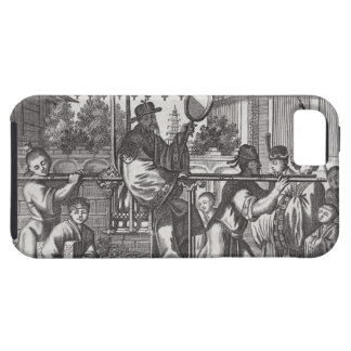 A Mandarin in a Sedan Chair, illustration from a d iPhone 5 Covers