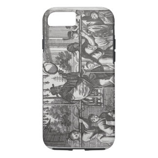 A Mandarin in a Sedan Chair, illustration from a d iPhone 8/7 Case
