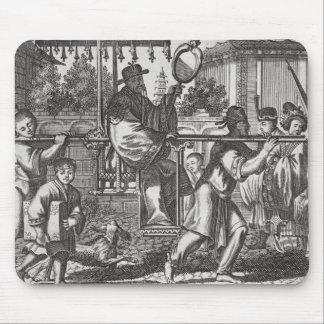 A Mandarin in a Sedan Chair, illustration from a d Mouse Pad