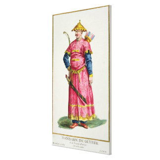 A Mandarin Warlord from 'Receuil des Estampes, Rep Canvas Print