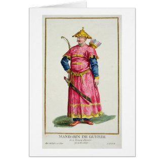 A Mandarin Warlord from 'Receuil des Estampes, Rep Greeting Card