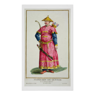A Mandarin Warlord from 'Receuil des Estampes, Rep Poster